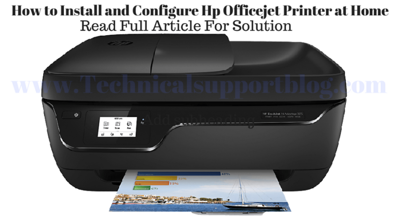 Install and Configure Hp Officejet Printer