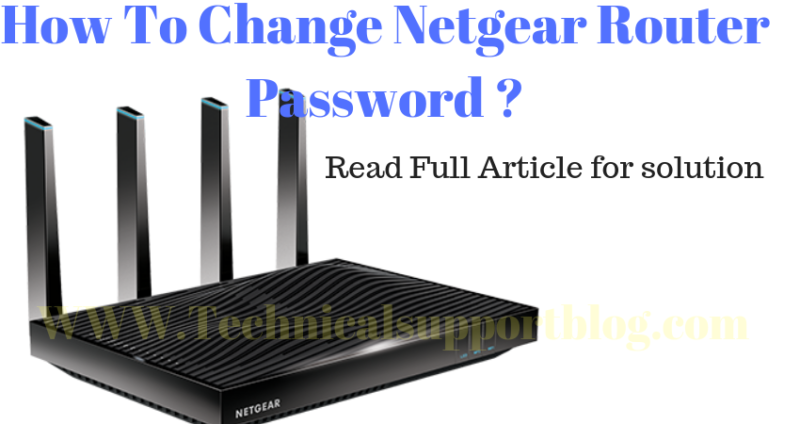 Change Netgear Router Password