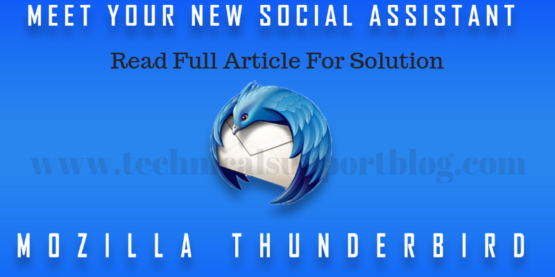 Meet your new social assistant Mozilla Thunderbird